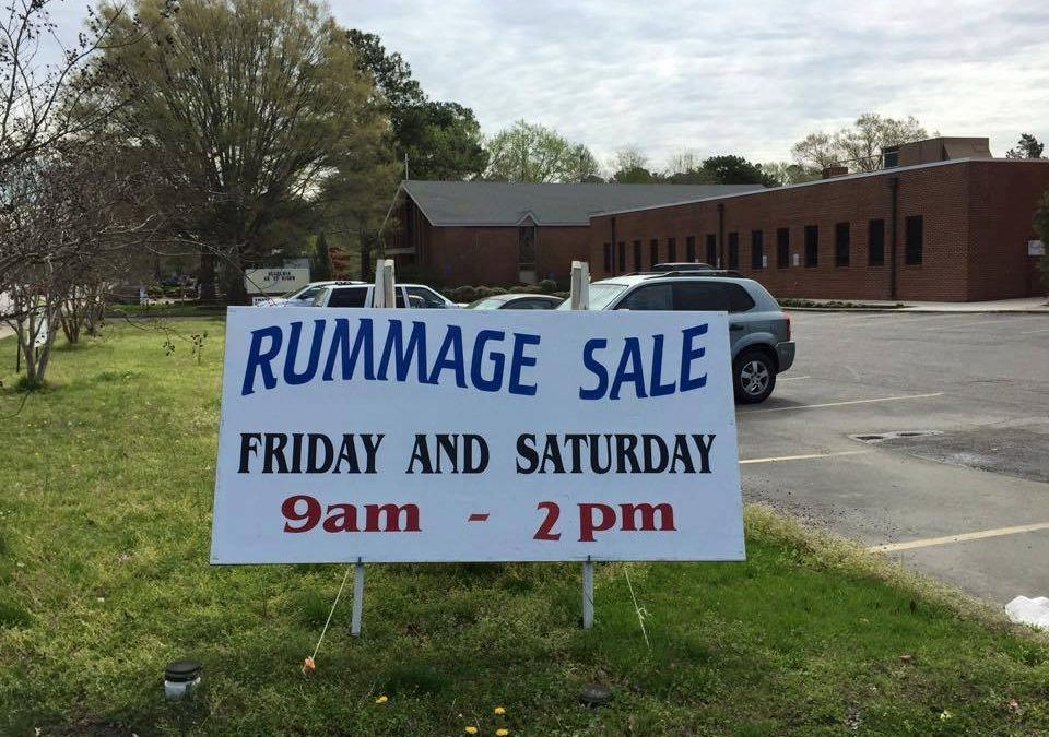 Thalia UMC United Methodist Woman's Fall Rummage Sale