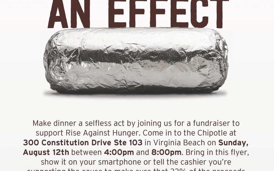 Rise Against Hunger Chipotle Fundraiser