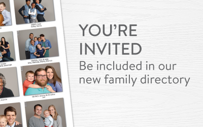 New Church Directory Photos!Schedule Online or at Sunday Services