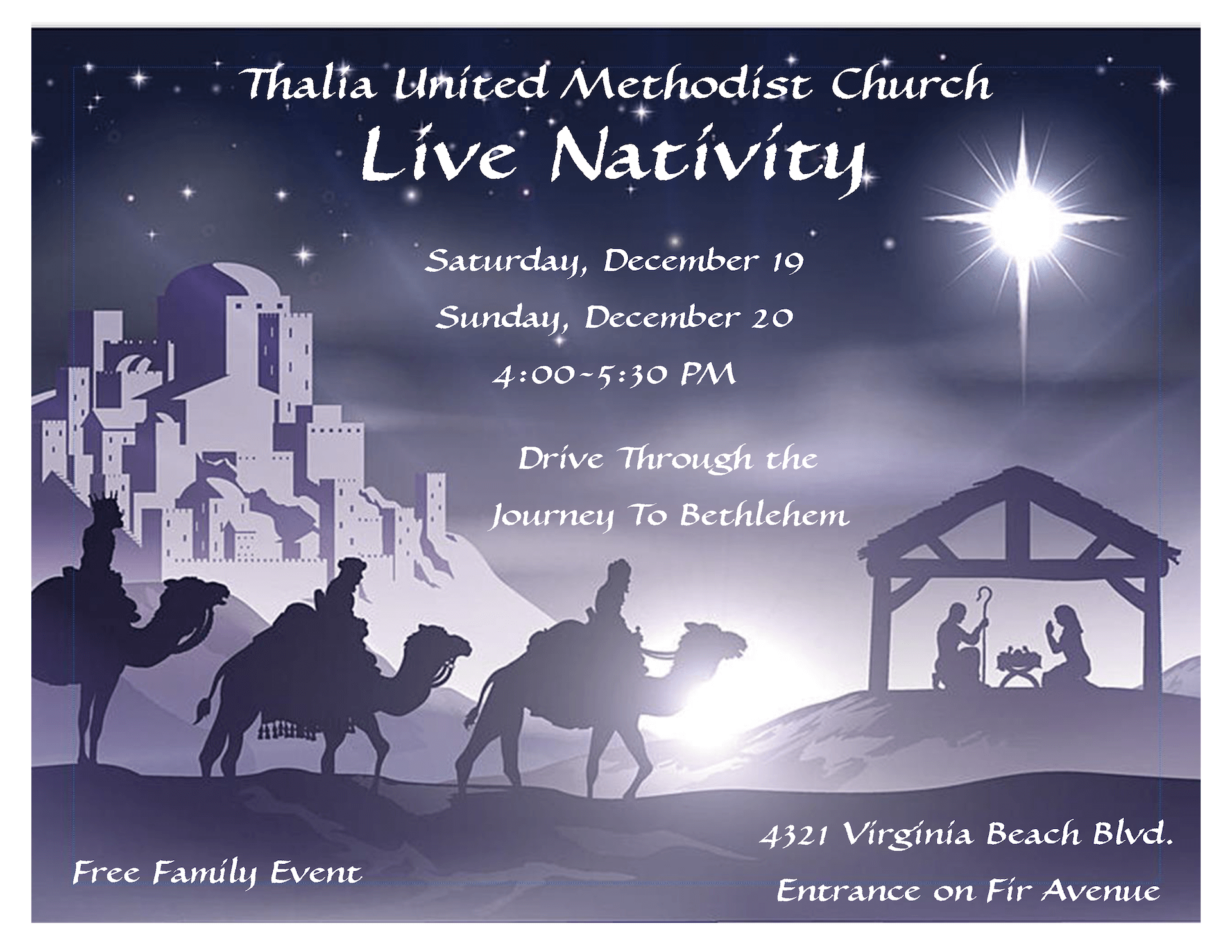 Live Nativity Flyer